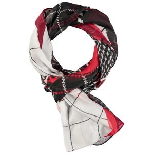 Sjaal Zwart Rood-Ruit