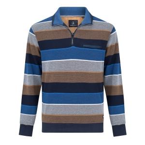 Sweater Kobalt Bruin Streep