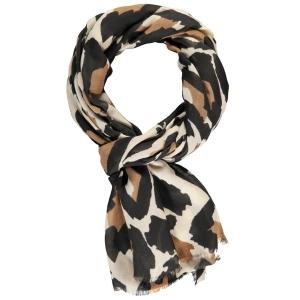 Sjaal Zwart Toffee-Dierenprint
