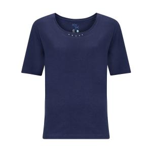 Shirt Marine Uni-Strass