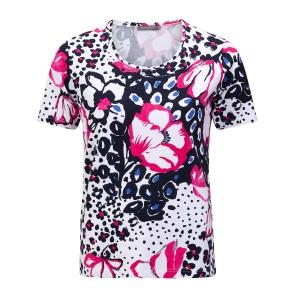Shirt Marine Fuchsia Bloem