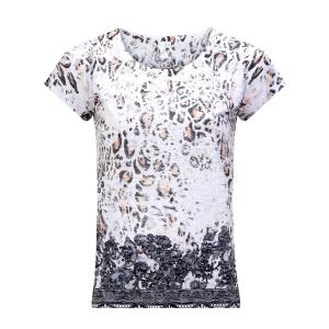 Shirt Taupe-Zwart Strass