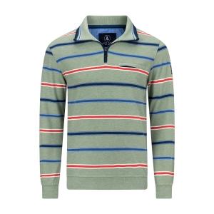 Sweater Lindegroen-Orange Streep