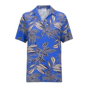 Poloshirt Koningsblauw- Zand Blad