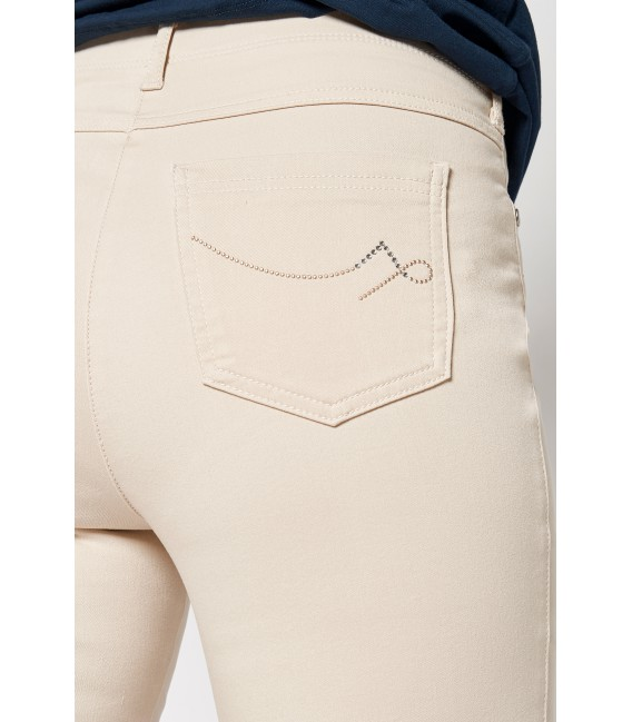 Damespantalon 5 Pocket Beige