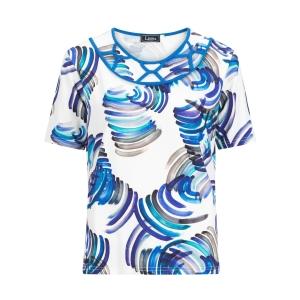 Shirt Kobalt Paars Print