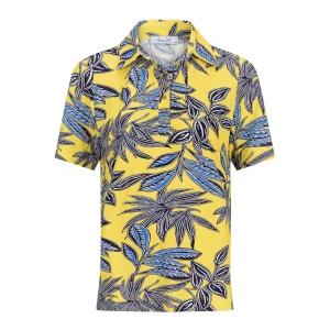 Poloshirt Geel-Blauw Palm