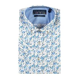 Overhemd Blue Zand Spatje KM