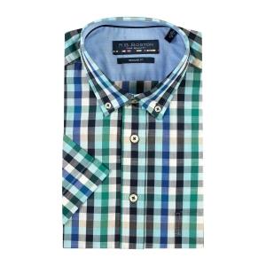 Overhemd Marine Groen Ruit KM
