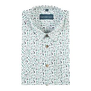 Overhemd Groen Zand Cirkels