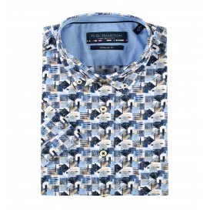 Overhemd Marine Blue Kubus KM