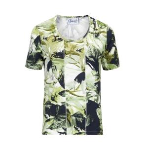 Shirt Groen Zwart Bloemig