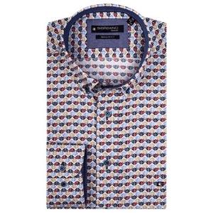 Overhemd Indigo Zand Patroontje LM
