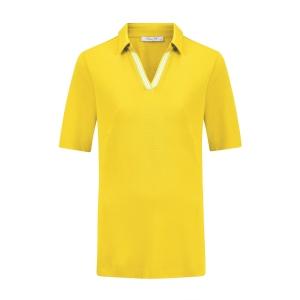 Poloshirt Geel Streepbies Wit