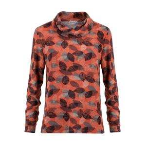 Shirt Brique Zwart Blaadjes Warm
