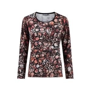 Shirt Zwart Brique Print