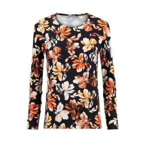 Shirt Zwart Terra Bloemen