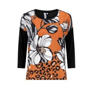 Shirt Zwart Terra Bloem