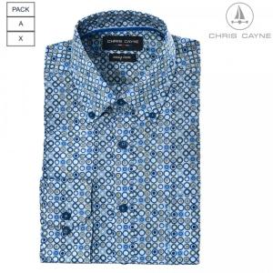 Overhemd Bleu Groen Rondje