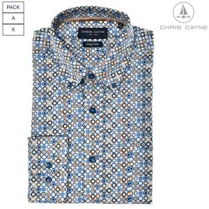 Overhemd Bleu Tabak Rondje