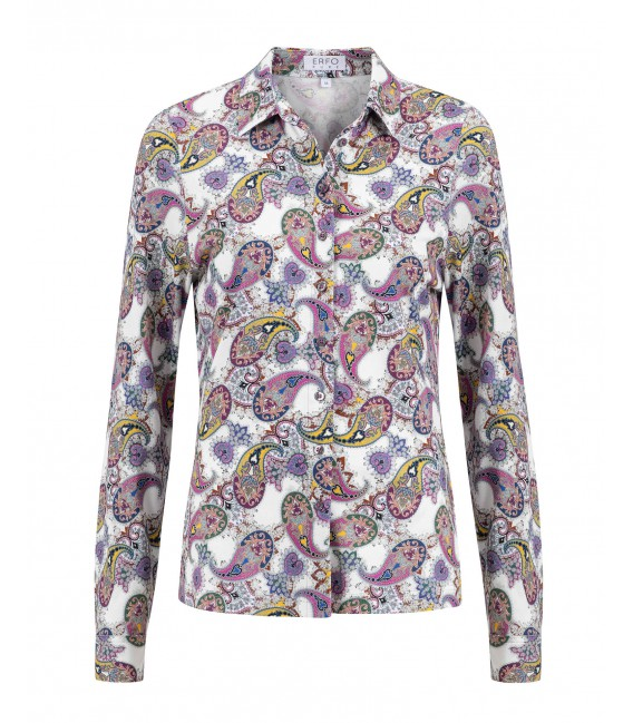 Blouse Berry Geel Paisley Tricot