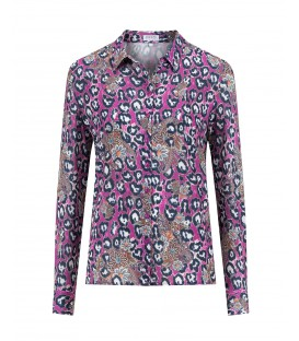 Blouse Berry Indigo Dierenprint
