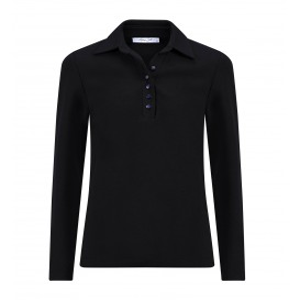 Poloshirt Zwart Uni