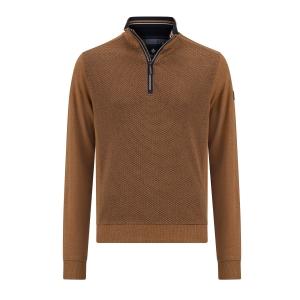 Sweater Cognac Marine Structuur