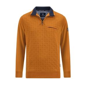 Polosweater Oker Marine Accenten doorstik