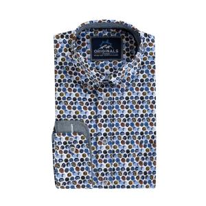 Overhemd Blauw Roest Bolletje
