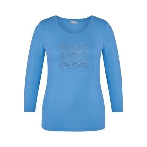 Shirt Mittelblau Strass