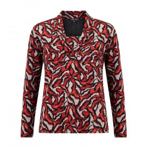 Shirt Rood Camel Dierenprint