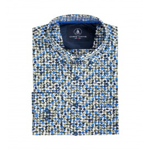 Overhemd Kobalt Groen Rondje