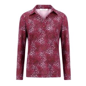 Poloshirt Oud Roze Antraciet Panterprint