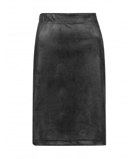 Rok Ottoman Zwart Leatherlook