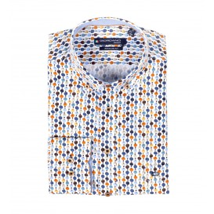 Overhemd Off White Blauw Tabac Rondje