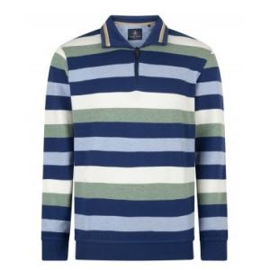Sweater Jeansblauw Lindegroe Streep