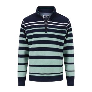 Sweater Marine Lindegroen Streep