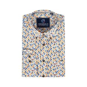 Overhemd Jeans Roest Dessin LM