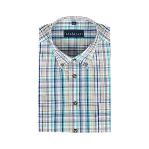 Overhemd Blue Geel Ruitje KM
