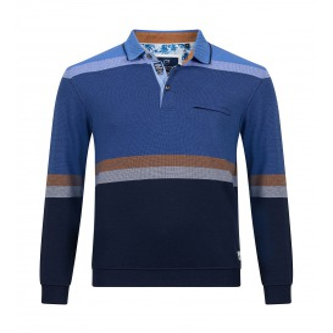 Polosweater Kobalt Bleu Streep