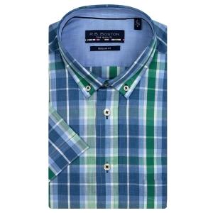 Overhemd Jeans Groen Ruitje