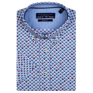 Overhemd Blue Rood Wyber KM