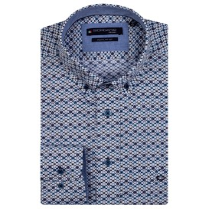Overhemd Indigo Blue Blokje LM
