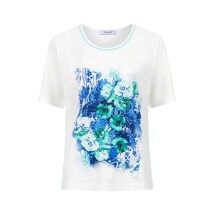 Shirt Wolwit Azure Bloemprint