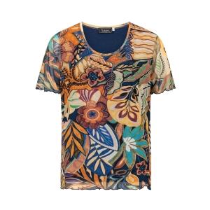 Shirt Gevoerd Brique/Marine Roesje