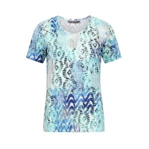 Shirt Bleu Mint Grafisch