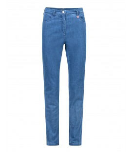 Damespantalon Jeans Light Blue 7/8