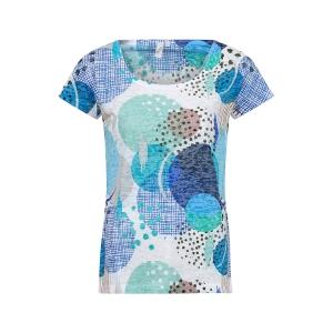 Shirt Lindegroen/kobalt Cirkelpatroon