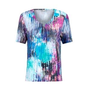 Shirt Indigo/Bleu Roze streepjes